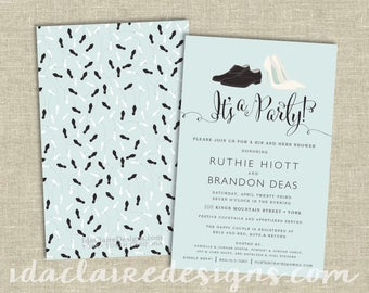 Bridal/Couples Shower Invitation Digital Download | Wedding Shoes
