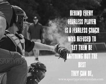 8x10 - Fearless Coach Print - Baseball