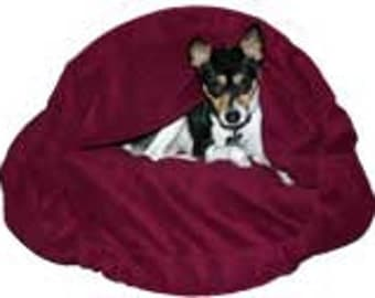 "MED 27""X30"" Burgundy Fleece Snuggle Bed  Ask a question"