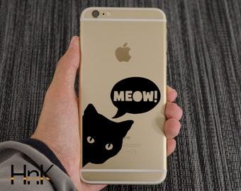 iphone vinyl decal phone  skin samsung sticker Cat hnkID031
