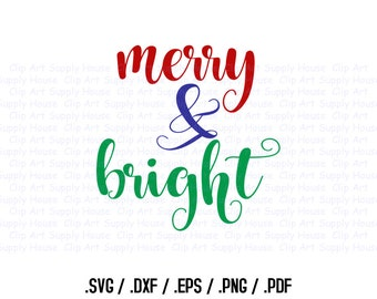 Christmas Season Clipart, Winter Christmas Wall Art, Home SVG File for Vinyl Cutters, Screen Printing, Silhouette, Die Cut Machines - CA389