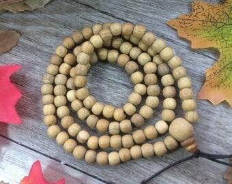 108pc 6MM Natural Hainan Drum  Alsewood Eaglewood Beads Meditation Buddhist Japa Mala Necklace