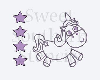 Chunky Unicorn PYO Cookie Stencil
