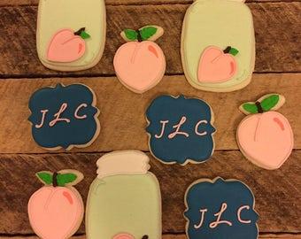 Cute As A Peach cookies