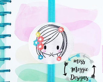 Flower Girl Bookmark ITH Embroidery design file