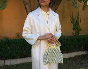 1960s vintage tailored wedding silk coat