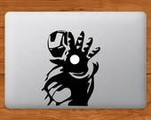 Marvel Iron Man MacBook Decal Laptop Sticker  Tony Stark Laptop Vinyl Decal Ironman