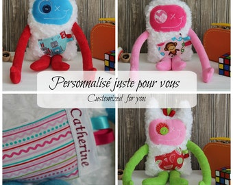 Custom order for Hug Monster, Plush, handmade plush toy, Stuffed Plush Monster