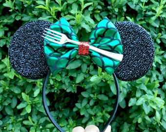 Little Mermaid Minnie Mouse ears headband