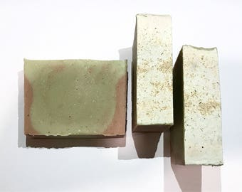 Wasabi Soap, Ginger Soap,  Cold Process Soap, Thyme Soap, Peppermint Soap, Homemade Soap, Handmade Soap, Unisex Soap