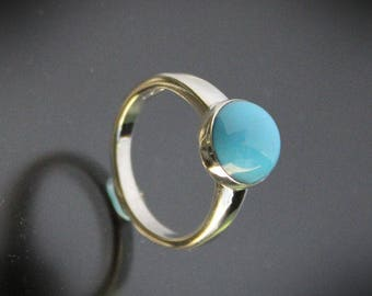 Sleeping Beauty Turquoise Sterling Silver Ring size 6.5