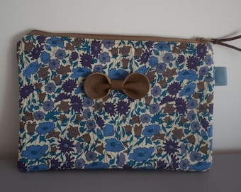 Cover Liberty Blue and Brown with leather knot