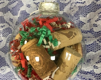 Glass Wine Cork Ornament