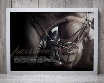 HORSE PASSION2 POSTER - print image without frame, quote