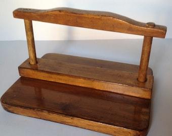 Vintage Farmhouse Napkin Holder/Primitive Mail Holder/Country Kitchen Decor/Rustic Table Decor/Cottage Organizer/