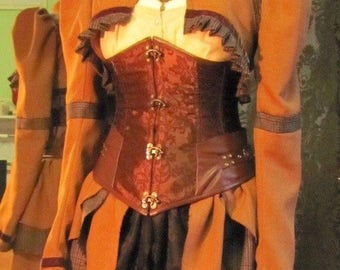 GREATLY REDUCED! Steampunk - costume 2 pieces (unique) Bolero + rock