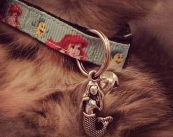 3/8 Wide Custom Made Adjustable Breakaway Ariel  Grosgrain Cat Collar