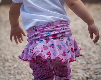Monkeyloones, evolutionary trouser Kids Pants, tutu, Pink Love, Baby Pants
