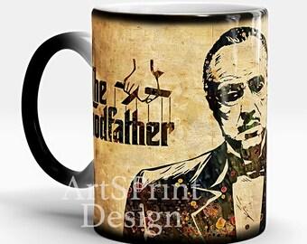 Godfather Color Changing Mug Godfather White Photo Mug Coffee Mug Funny Mug Godfather Gift Christmas Gift Magic Mug Godfather Tea Mug