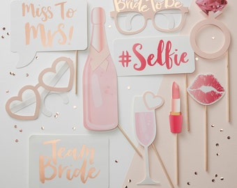 Hen Party | Bachelorette | Bridal Shower Photo Props | Photo Props | Bridal Shower | Hen Party | Bride Tribe | Hen Do