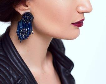 Eliza earrings- NAVY
