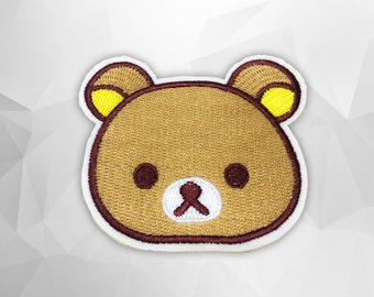 Teddy Bear Iron on Patch(M2) - Bear Cartoon Applique Embroidered Iron on Patch - Size 7.5x6.5 cm