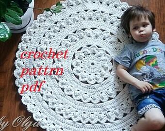 CROCHET PATTERN Mat Carpet PDF Pattern Rug Pattern Cotton Rug Pattern Baby  Rugs Pattern Home Decor