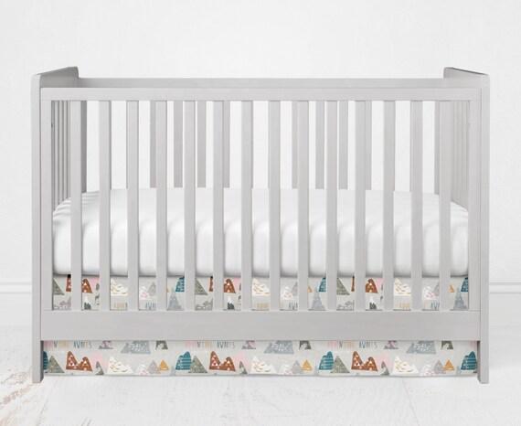 Standard Size Crib Skirt Dust Ruffle By Fabricologyinc