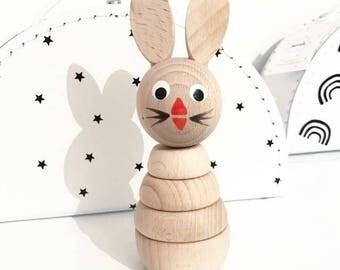 ALFIE -Wooden Rabbit Stacking Puzzle