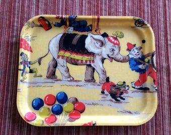 Circus Serving,Retro Tray,Child Tray,Circus Tray,Circus Decor,Circus Art,Retro Circus,Circus Kitchen,Circus Wall Art,Circus Collection,