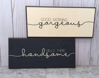 Set of 2 Wood Signs