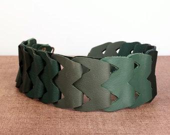 Verwisselbare schouderband • Echt leder voor handtas • (handgemaakt)