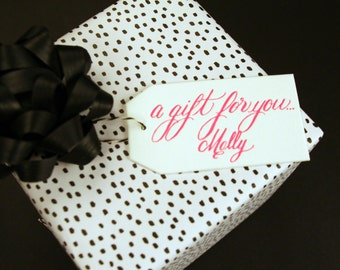 Personalized Letterpress Gift Tag - A Gift For You