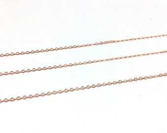 """18k Rose Gold Plated 0.925 Sterling Silver  Cable Chain Link    """"Custom Made"""", Diamond Findings , stylish jewelry, Rosary Chain, bead chain"""