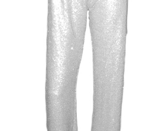 Ooh la la straight leg fully lined sequin pant with soft stretch waistband