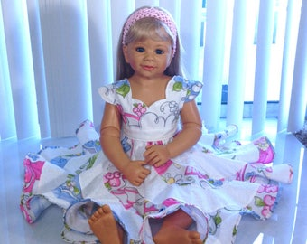Spring flowers Boutique Pageant Twirl Dress... Sizes available 6m-10 girls