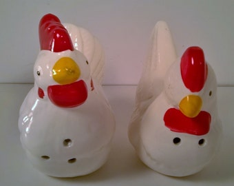 Vintage Ceramic Chick Salt and Pepper Shakers