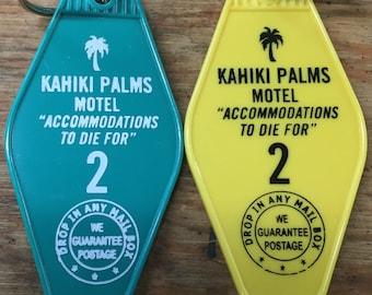 New! DEVIL'S REJECTS inspired Kahiki Palms Motel keytag