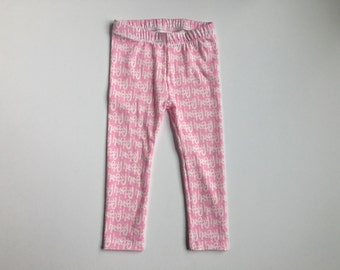 Baby and Toddler Pink Happy Jersey Knit Leggings