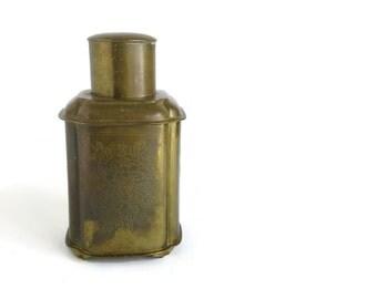 Vintage Brass Chinese Tea Caddy