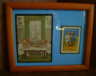 Cream of Wheat ad 1931 framed / Robinson's Barley and Groats / vintage /wood/ decor / Bed & Breakfast/ Mother's day/Anniversary /collectible