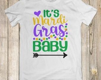 Mardi Gras Shirt | Cute Mardi Gras Tee | Mardi Gras Tee | Mardi Gras Beads Shirt | Kids Mardi Gras Shirt | Baby Mardi Gras Shirt |
