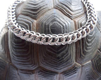 Half-Persian 3-in-1 chainmaille bracelet - Stainless Steel