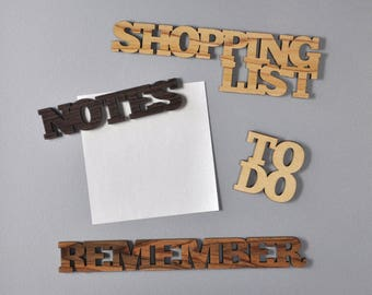 Magnet set Set of 4 amazing refrigerator magnets remember shopping list