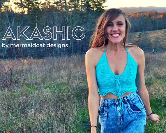 Crochet crop top pattern -Akashic