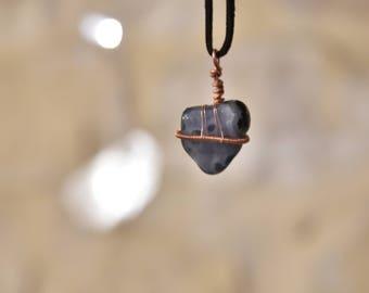 Blue Gem Stone Pendant Necklace