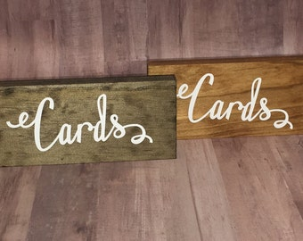 Cards Sign- Wood