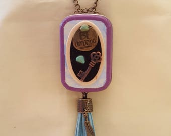Handmade, jewelry, necklace, locket, altoids tin, decorated