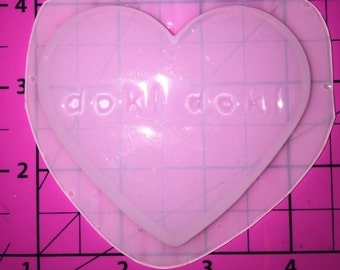 Fairy Kei Kawaii DOKI DOKI Heart -Flexible Plastic Resin MOLD