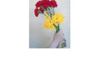 Deep love and Rebirth. Flower portrait